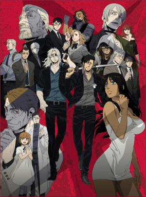 Capa do anime Gangsta.