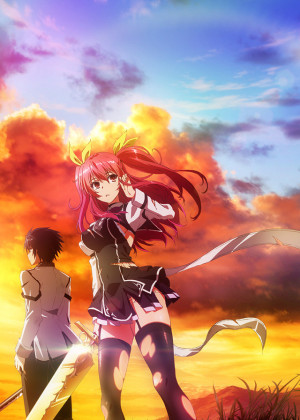 Capa do anime Rakudai Kishi no Cavalry