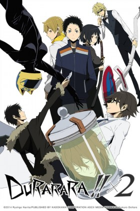 Capa do anime Durarara!!x2 Ketsu