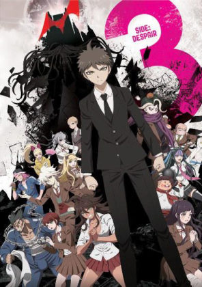 Capa do anime Danganronpa 3: The End of Kibougamine Gakuen Zetsubou-hen
