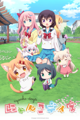 Capa do anime Nyanko Days