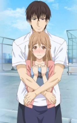 Capa do anime Omiai Aite wa Oshiego, Tsuyoki na, Mondaiji